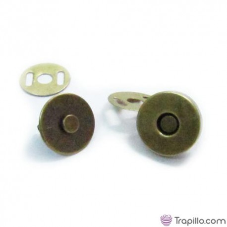 Cierre para bolso oro viejo de 14mm