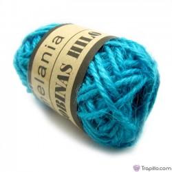 Bobina de Lino Azul turquesa