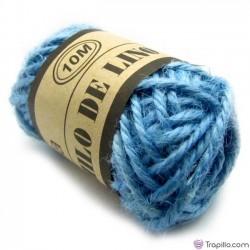 Bobina de lino Azul celeste