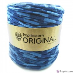 Trapillo Estampado duo de azules 6537