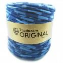 Trapillo Estampado duo de azules 6537