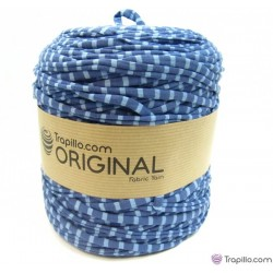 Estampado Azules Stoff Garn 6719
