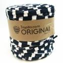 Tissu Recycle  Estampado Azul Marino y Blanco 6725