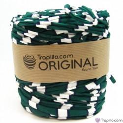 Tissu Recycle Verde Azul y Blanco de algodon 6739