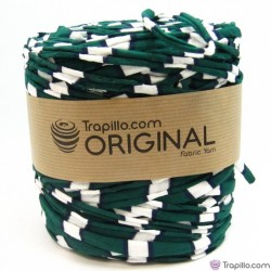 Verde Azul y Blanco Stoff Garn 6239