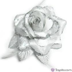 Coletero rosa blanca y plata