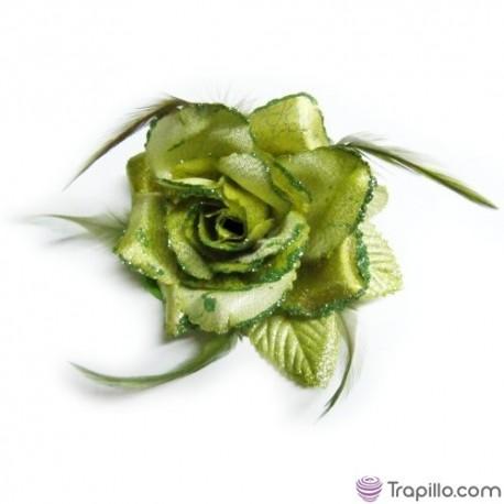 Coletero flor verde y dorada