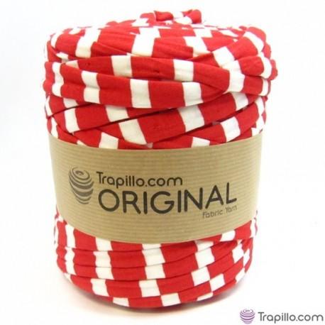 Trapillo Estampado Blanco con flores rojas y verdes 6798