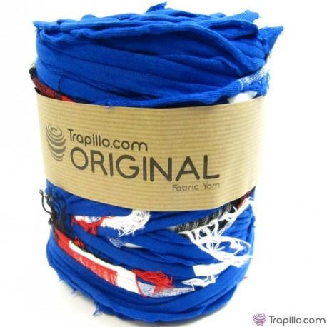 Trapillo estampado azul con colores 6904