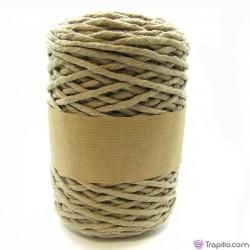 Cuerda de algodón torcido de 5 mm Beige