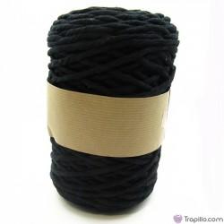 Cuerda de algodón torcido de 5 mm gris claro.