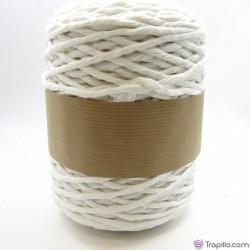 Cuerda de algodón torcido de 5 mm Blanco
