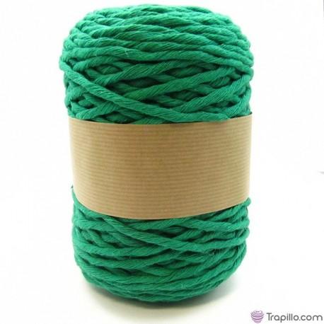 Cuerda de algodón torcido de 5 mm Verde