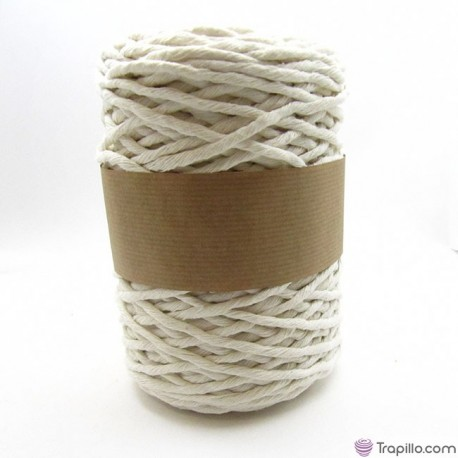 Cuerda de algodón torcido de 5 mm Crudo
