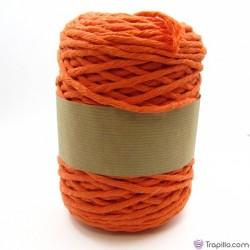 Cuerda de algodón torcido de 5 mm Naranja