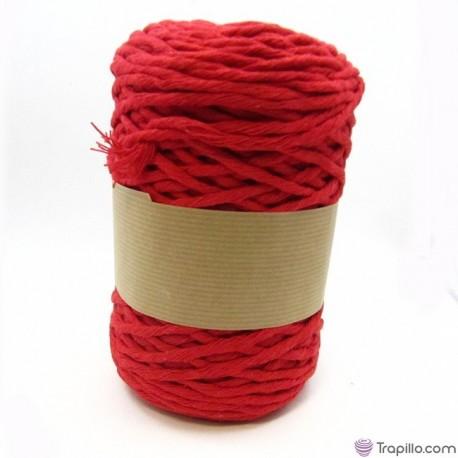 Cuerda de algodón torcido de 5 mm Rojo