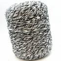 Cuerda de algodón torcido de 4mm Blanca y negra.