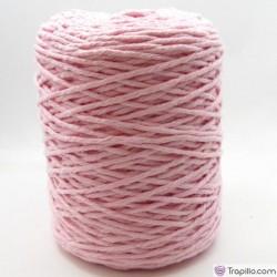 Cuerda de algodón torcido de 4 mm rosa bebe