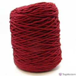 Cuerda de algodón torcido de 4 mm Burdeos