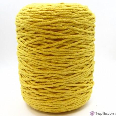 Cuerda de algodón torcido de 4 mm Amarillo huevo