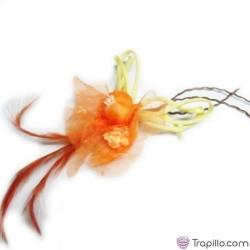 Broche y coletero Naranja