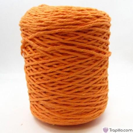 Cuerda de algodón torcido de 4 mm Naranja