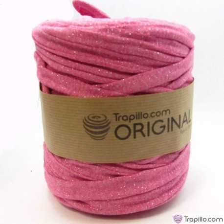 Trapillo Rosa chicle con brillo 7111