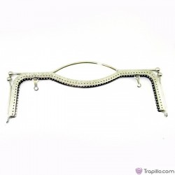 Purse frame 22x8cm silver color