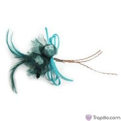 Broche Azul verdoso