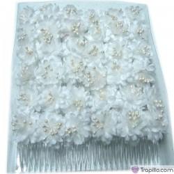 Caja con doce peinetas en color blanco