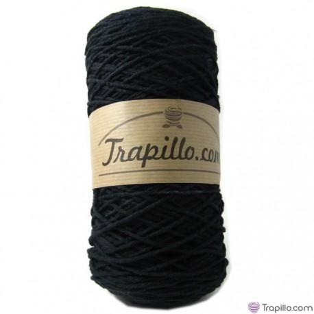 Cuerda de algodon torcido Negra