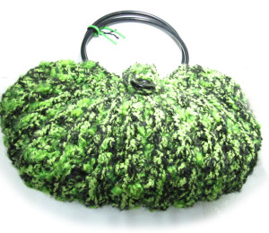 Bolso de hilo reciclado color verde