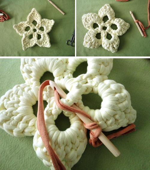 Paso a paso flor de ganchillo xxl el blog de - Manualidades a crochet paso a paso ...