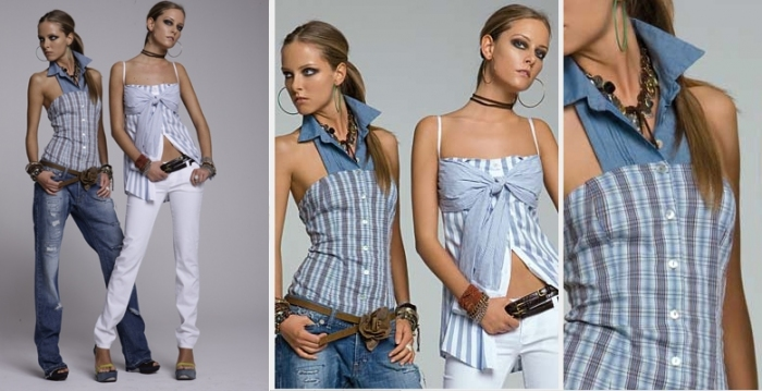 Además de bisutería, con tela de viejos vaqueros podemos hacer ropa