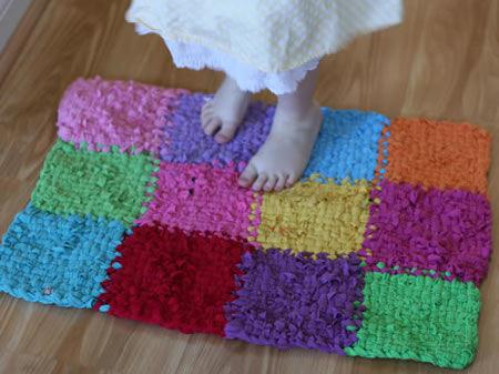 Alfombras de tela reciclada el blog de - Telas para alfombras ...