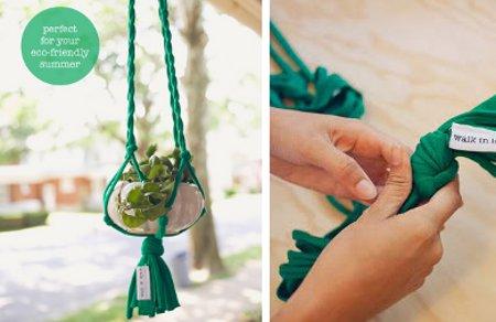 Jardinera de tiras de tela el blog de - Redes para colgar altavoces ...
