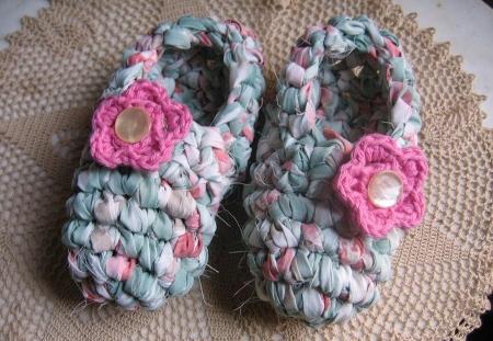 Zapatones y pantuflas de trapillo