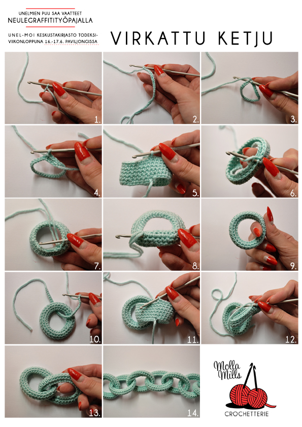 Collar cadena de tela cosida o ganchillo | El blog de trapillo.com