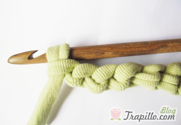 Crochet paso a paso nudo inicial y cadena el blog de - Puntos crochet trapillo ...