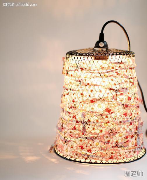 lampara-tela-reciclada