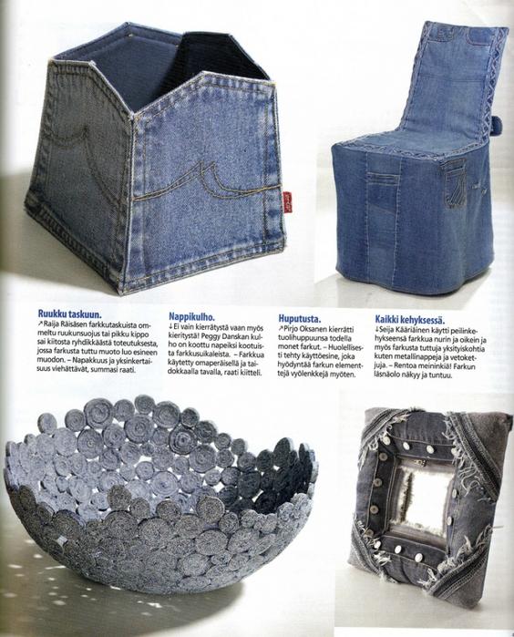 creativas ideas para reciclar jeans el blog de. Black Bedroom Furniture Sets. Home Design Ideas