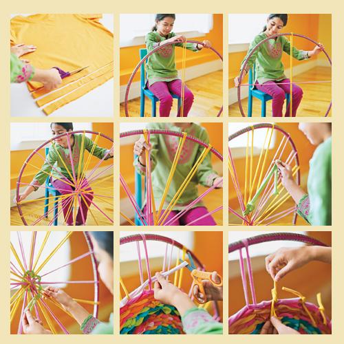 Manteles y alfombras hula hoop el blog de - Como hacer alfombras con trapillo ...