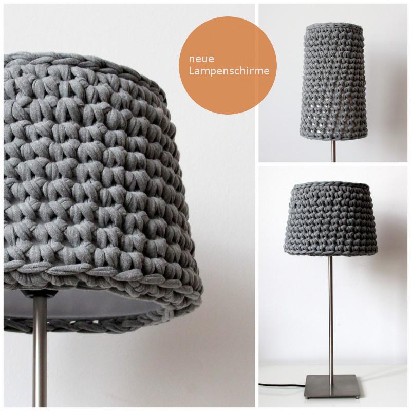 Pantallas tejidas para l mparas de mesa o pie el blog de - Ideas para lamparas ...