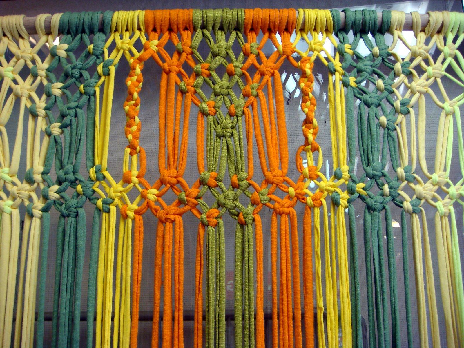 Cortinas, separadores y tapices en macramé o crochet XL