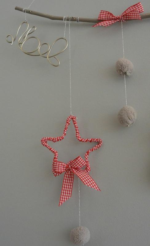 estrella de alambre y tela de ohboutdufil