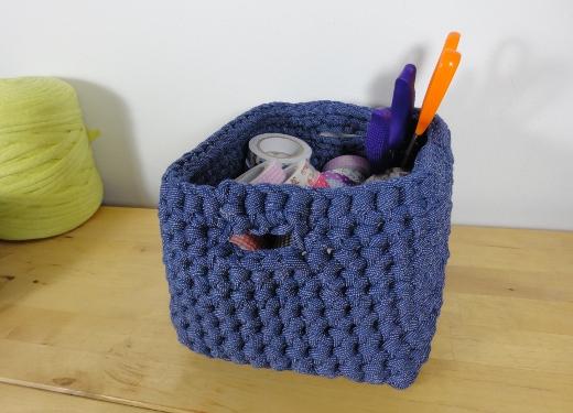 Organizador De Baño En Tela Paso A Paso:Tejer Trapillo En Crochet