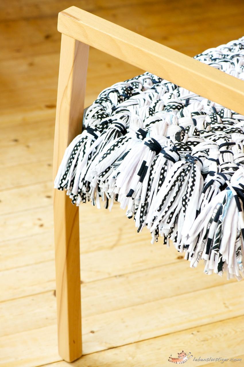 Modelos Y T Cnicas Elegantes Y Divertidos Almohadones De Trapillo  -> Tapetes Para Sala Tejidos A Crochet
