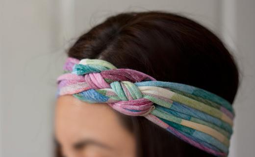 banda,cabello,tela,reciclada