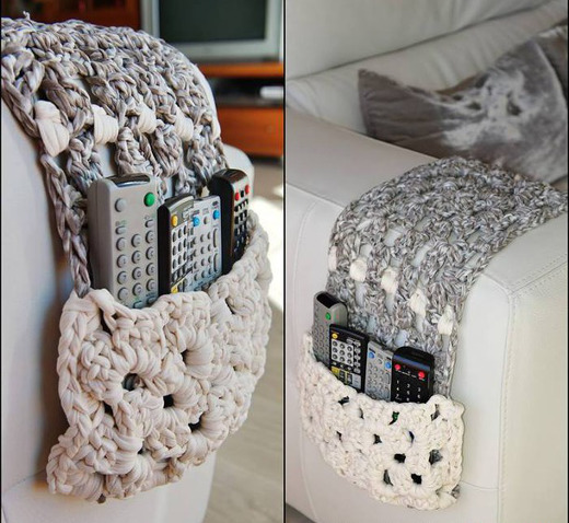 Trapillo inspiraci n 5 tejidos tiles para organizar la for Decoracion del hogar con crochet