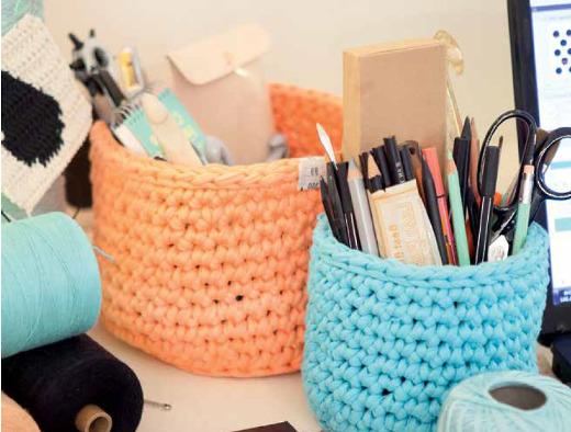 Portal pices floreros y frascos reciclados con trapillo - Cosas para hacer de ganchillo ...